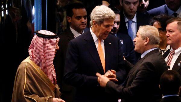 Госсекретарь США Джон Керри после переговоров по Сирии в Лозанне