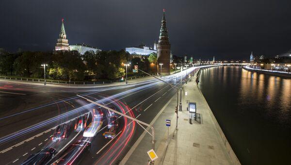 Московский Кремль и Кремлевская набережная в Москве