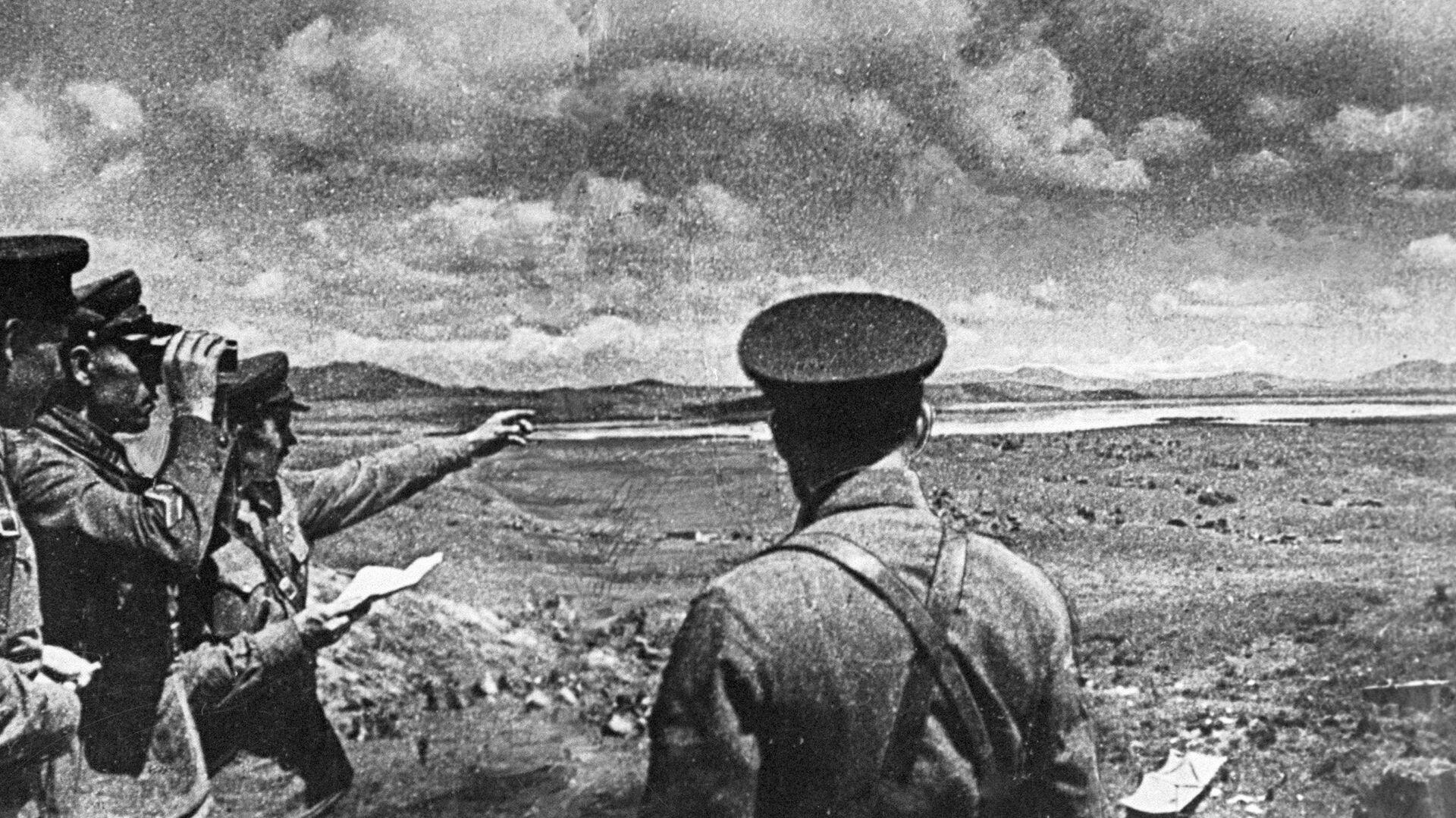 Советские командиры на берегу озера Хасан во время вторжения японских войск. 1938 год - РИА Новости, 1920, 29.07.2021
