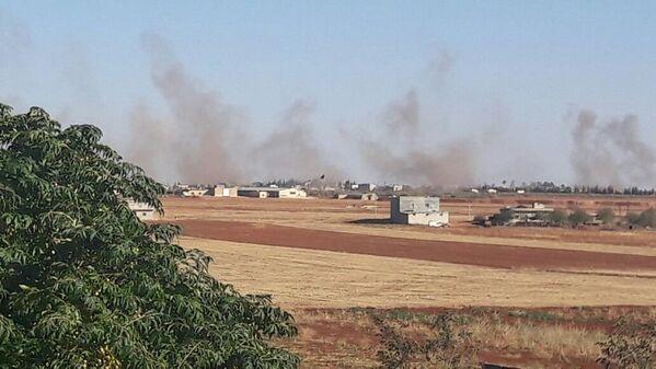 Турецкая артиллерия ведет огонь по курдским деревням Хамадджек и Ум-аль-Хуш на севере провинции Алеппо
