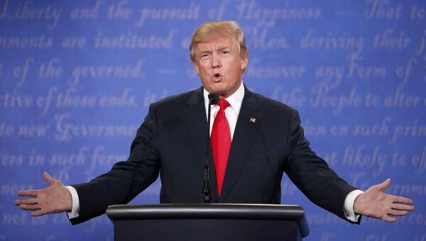 Дональд Трамп на третьих теледебатах. 20 октября 2016 год