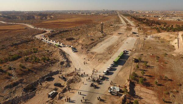 Гуманитарный коридор на севере Алеппо. Архивное фото