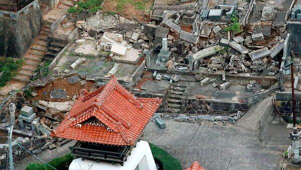Последствия землетрясения в префектуре Тоттори, Япония. Архивное фото