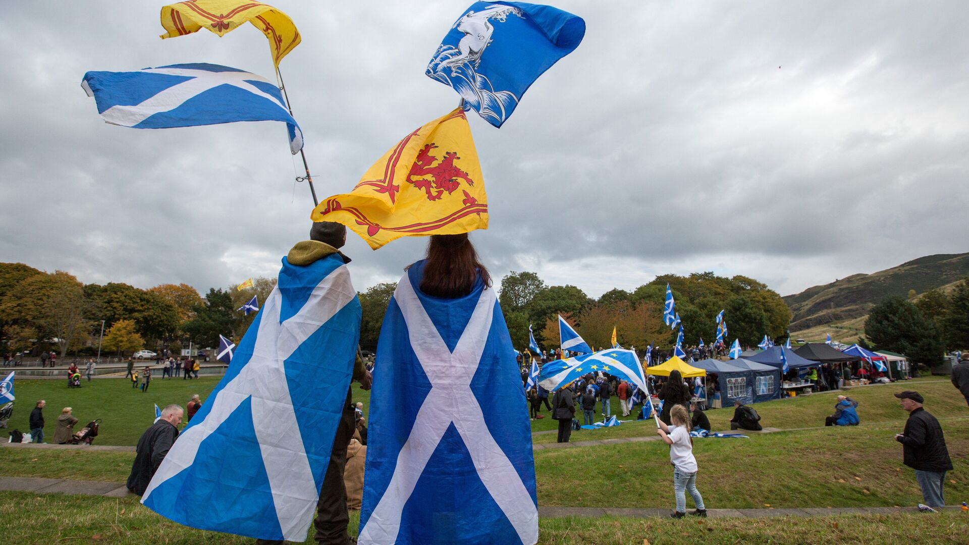 Марш за независимость Шотландии в Эдинбурге - РИА Новости, 1920, 02.01.2021