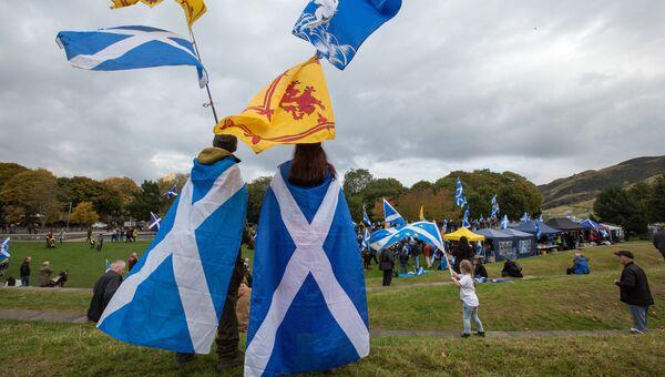 Марш за независимость Шотландии. Архивное фото