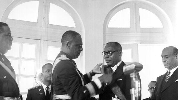 Церемония инаугурации президента Франсуа Дювалье. Гаити, 1957 год