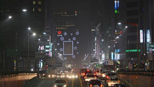 На улицах Сеула, Южная Корея. Архивное фото