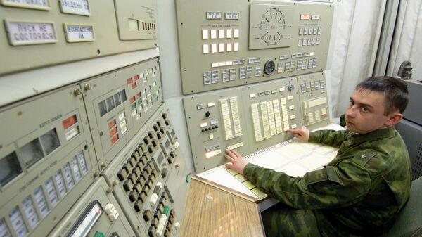 Дежурный расчет Ракетных войск стратегического назначения. Архив