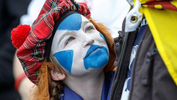 Участники марша в Эдинбурге за независимость Шотландии. Архивное фото