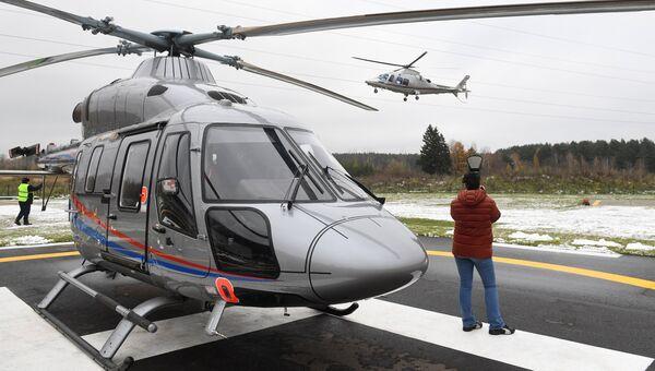 Презентация легкого многоцелевого двухдвигательного вертолета Ансат. Архивное фото