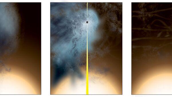 Так художник представил себе рождение «голой» черной дыры