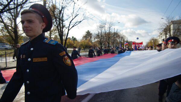 Мы - это многонациональная Россия, это российская нация, - заявил лидер партии Справедливая Россия Сергей Миронов, выступая на концерте-митинге Мы едины!