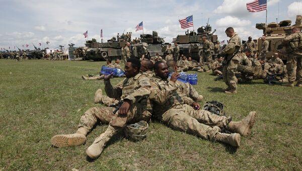 Американские военные во время учений НАТО в Грузии. Архивное фото