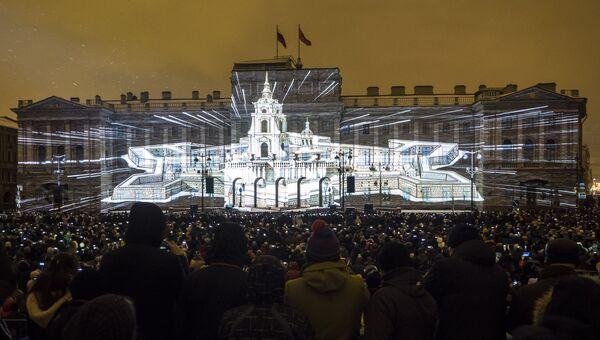 Мультимедийное 3D-mapping шоу в Санкт-Петербурге. Архивное фото