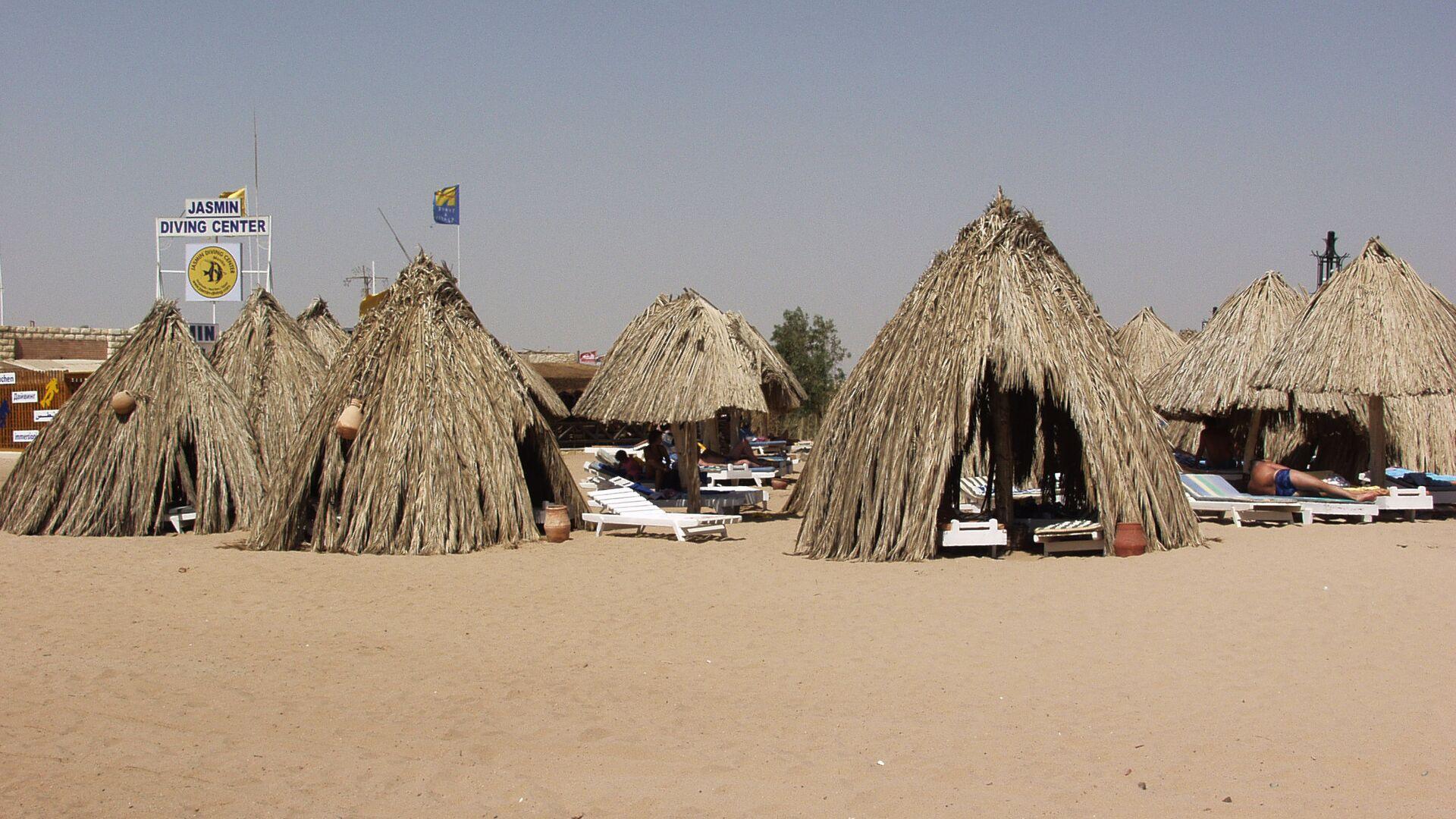 Пляж курорта Хургада в Египте - РИА Новости, 1920, 26.07.2021