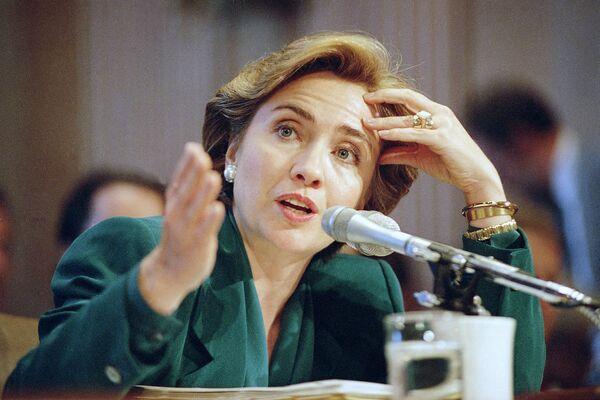 Хиллари Клинтон в Вашингтоне. 1993 год