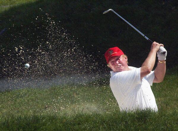 Дональд Трамп во время турнира Buick Classic. 9 июня 2004