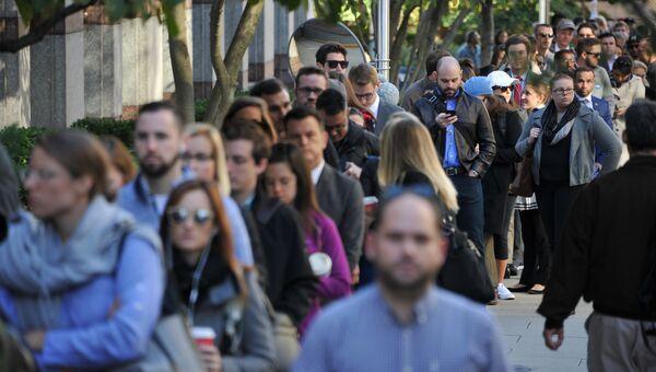 Люди возле избирательного участка в Вашингтоне, США
