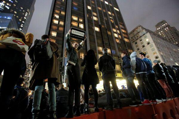 Протесты в Нью-Йорке после президентских выборов