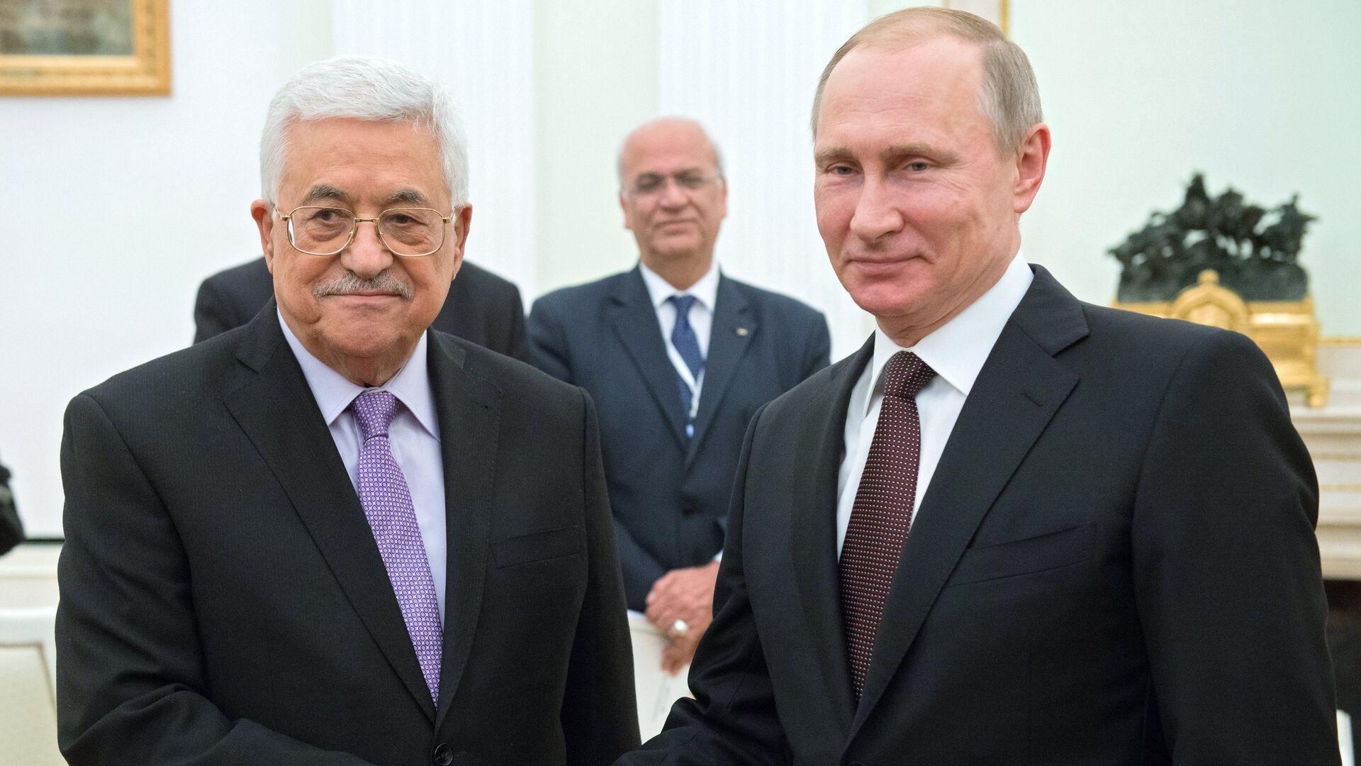 Президент РФ В. Путин встретился с главой Палестины М. Аббасом - РИА Новости, 1920, 05.05.2021