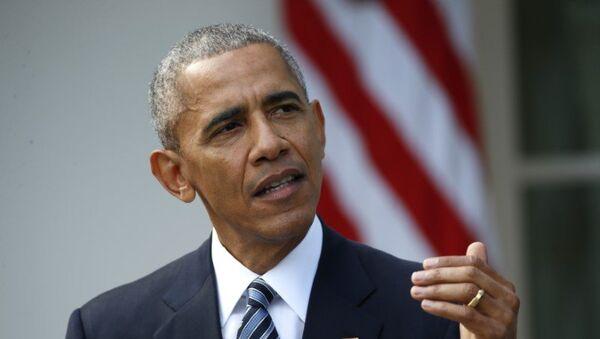 Президент США Барак Обама в Вашингтоне, 11 ноября 2016 года. Архивное фото