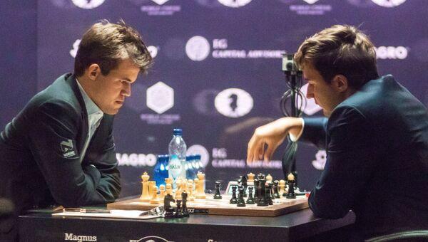 Шахматы. Матч за звание чемпиона мира 2016. М.Карлсен vs С.Карякин. Первый день