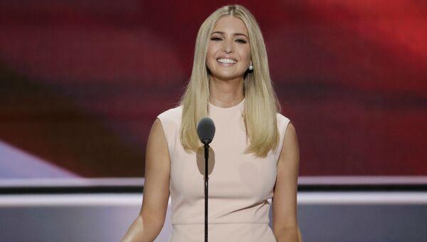 Дочь кандидата в президенты США Дональда Трампа Иванка во время предвыборной кампании отца в Кливленде. 21 июля 2016 года