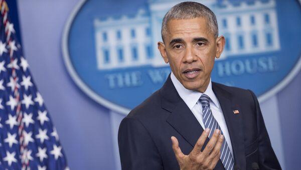 Президент США Барак Обама выступает на пресс-конференции в Вашингтоне