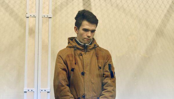 Филипп Будейкин (Лис) в Октябрьском районном суде Санкт-Петербурга. Архивное фото