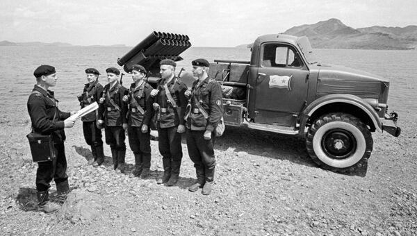 Подразделение реактивной артиллерии морской пехоты