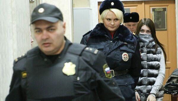 Участница гонки с полицией на машине сына замглавы Лукойла Мара Багдасарян в Савеловском суде Москвы. Архивное фото