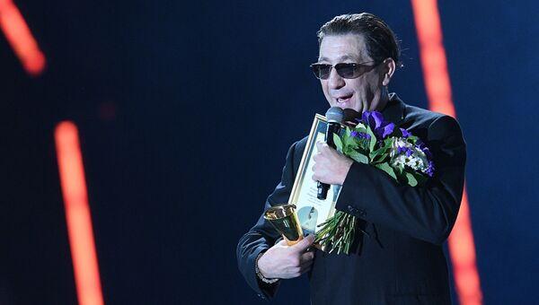 Певец Григорий Лепс на XXI Церемонии вручения национальной музыкальной премии Золотой Граммофон