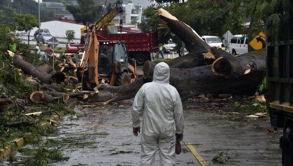 Последствия тропического шторма Отто в Панаме
