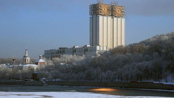 Вид на здание Президиума Российской Академии наук в Москве. Архивное фото