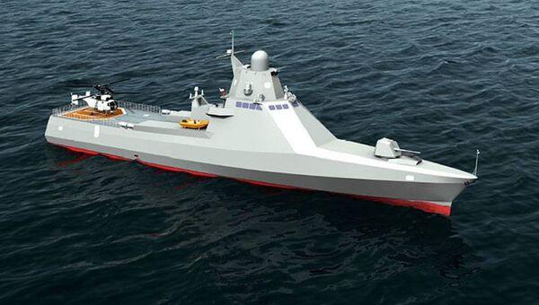 Модель патрульного корабля проекта 22160. Архивное фото