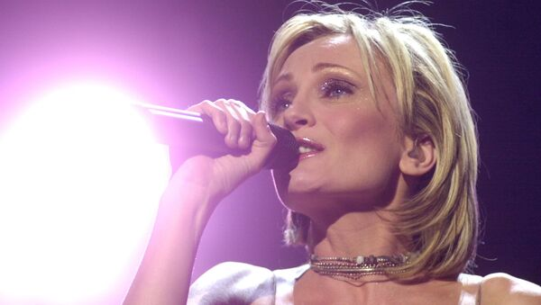 Французская певица Патрисия Каас во время своего тура во Франкфурте, Германия