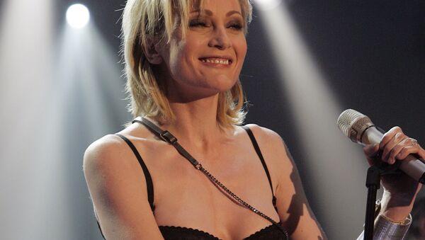 Французская певица Патрисия Каас во время репетиции телешоу Германия 12 очков в Берлине, Германия.