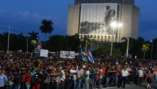 Траурный митинг в память о Фиделе Кастро в Гаване