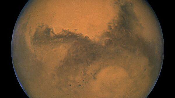 Снимок Марса, сделанный космическим телескопом Хаббл