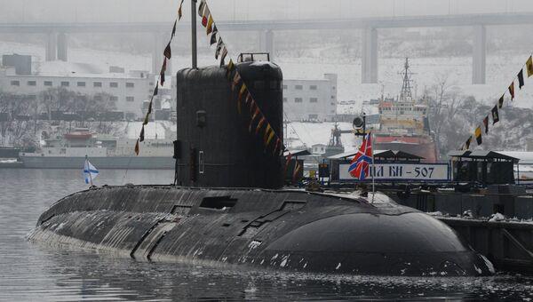Дизельная подводная лодка класса Варшавянка во Владивостоке. Архивное фото
