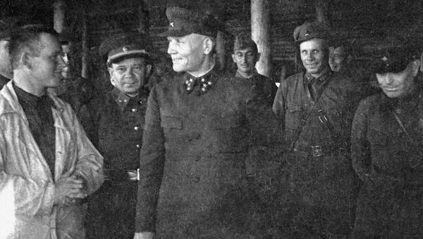 Командующий Калининским фронтом генерал-полковник Иван Степанович Конев. 1941 год