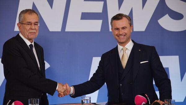 Кандидаты в президенты Австрии Александр Ван дер Беллен (слева) и Норберт Хофер