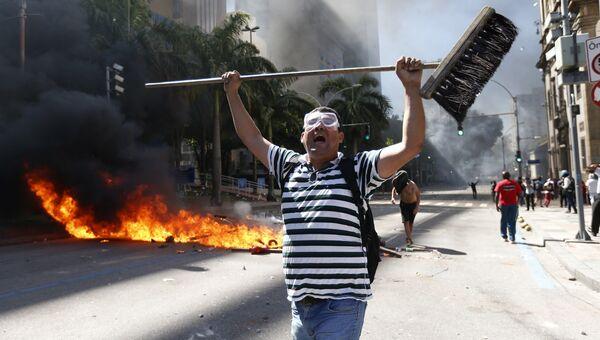Акция протеста в Рио-де-Жанейро. Архивное фото