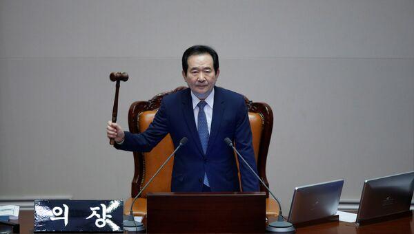 Голосование в парламенте Южной Кореи по вопросу импичмента президенту Пак Кын Хе
