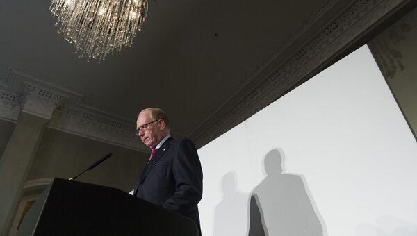 Глава независимой комиссии Всемирного антидопингового агентства (ВАДА) Ричард Макларен во время пресс-конференции в Лондоне. 9 декабря 2016