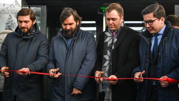 Алексей Гаврилов, Алексей Васильчук, Василий Мельников на церемонии открытии катка BMW каток 354