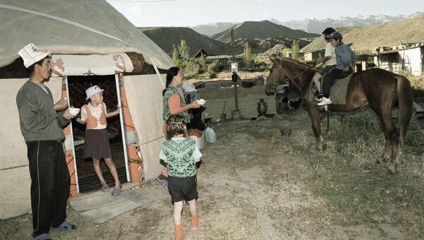 Киргизская семья. Архивное фото