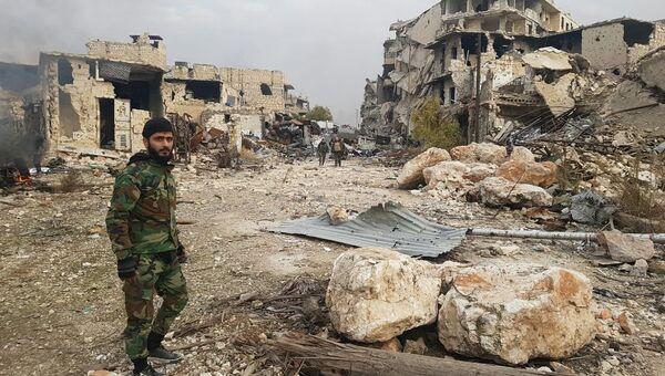 Ситуация в восточном Алеппо. Архивное фото