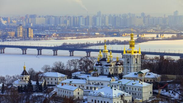 Панорама зимнего Киева