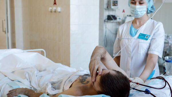 Реанимационное отделение медсанчасти ИАПО, в котором проходят лечение люди, отравившиеся суррогатным алкоголем. Архивное фото